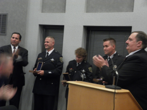 Officers honored for quick action rescue when car plunged into lagoon