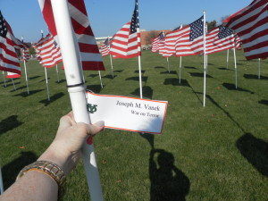 At York High School's Avenue of Flags…