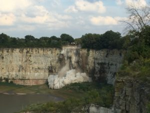 Scheduled Rock Blasting performed at the Elmhurst Quarry Friday