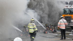 Fire rages at VIP Occasions on N. York Rd. in Elmhurst