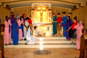 ICGS 8th graders re-enact the Passion & Death of Christ