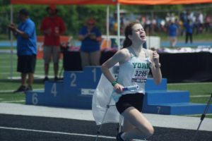 York girls track 3,200 relay takes ninth at state.