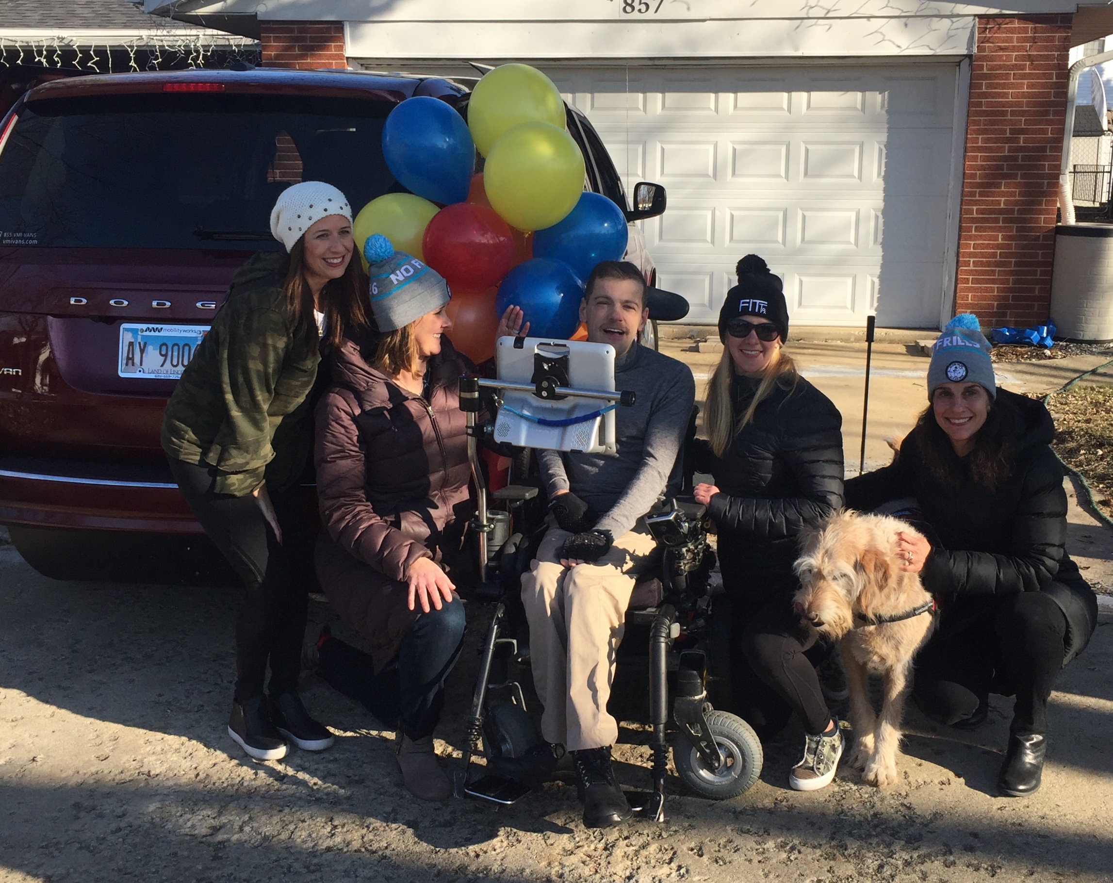 New Year brings new van and new hopes for Elmhurst man with cerebral palsy;  Community raises nearly $50K to buy wheelchair accessible van