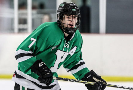 Heading north York graduate Billy Paschen (pictured) and Dukes teammate Christopher Lee will continue their hockey careers at the juniors level with the Cochrane (Ontario) Crunch of the Northern Ontario Junior Hockey League. Both were all-state players while at York.